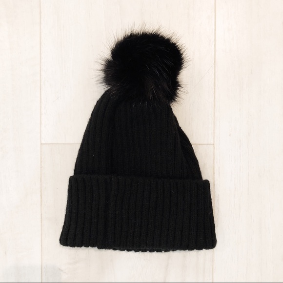 Cotton On Accessories - Cotton On Black Puff Ball Hat 712644dab43